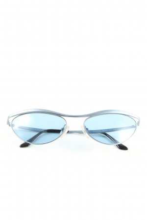 Moschino Butterfly Glasses blue casual look