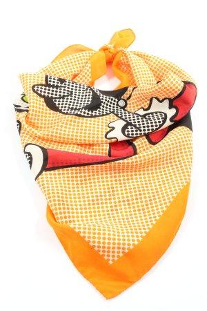 Moschino Cheap and Chic Apaszka jasny pomarańczowy Nadruk z motywem