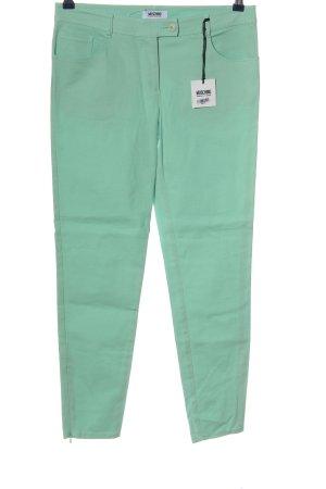 Moschino Cheap and Chic Spodnie z wysokim stanem turkusowy W stylu biznesowym