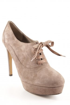 Moschino Cheap and Chic Hochfront-Pumps hellbraun Business-Look