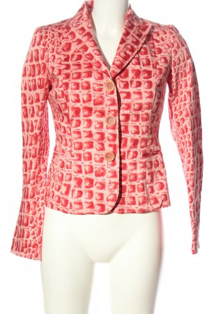 Moschino Cheap and Chic Short Blazer red-nude allover print classic style