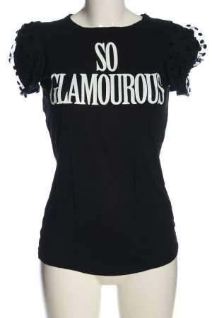 Moschino Cheap and Chic Print Shirt black-white printed lettering casual look