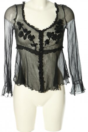 Moschino Cheap and Chic Transparent Blouse black casual look