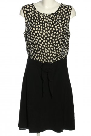 MOSCHINO Cheap & Chic Blusenkleid schwarz-wollweiß Motivdruck Elegant