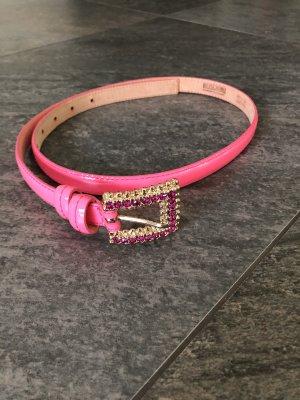 MOSCHINO Cheap & Chic Cinturón pélvico rosa neón Cuero