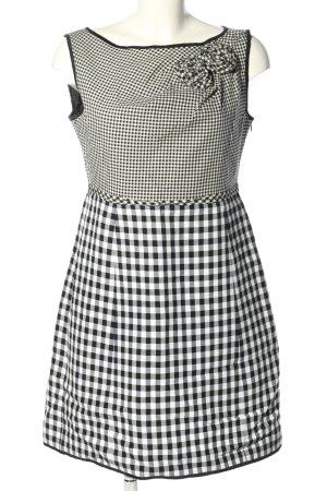 MOSCHINO Cheap & Chic Sukienka mini biały-czarny Wzór w kratkę W stylu casual