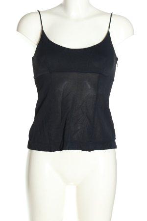 MOSCHINO Cheap & Chic Top z cienkimi ramiączkami czarny W stylu casual