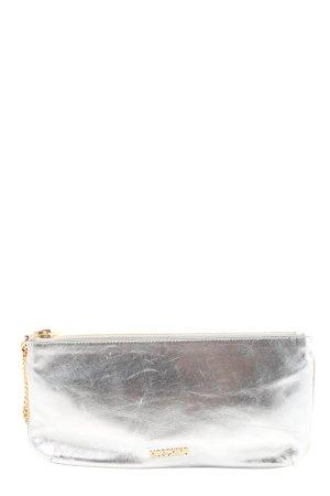 Moschino Kopertówka srebrny W stylu casual