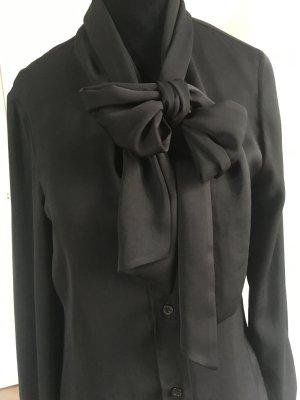 Moschino Milano Blusa in seta nero Tessuto misto