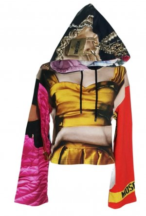 Moschino Hooded Sweater multicolored