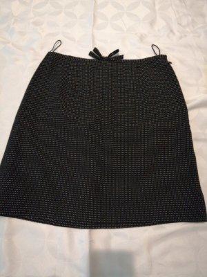 Moschino Milano Wełniana spódnica biały-czarny