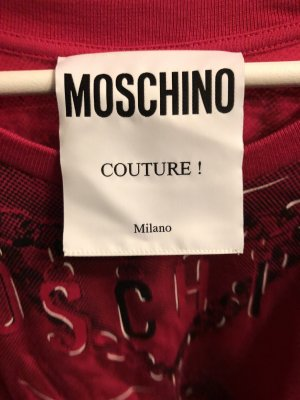 Moschino Top extra-large rouge framboise-noir