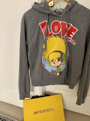 Love Moschino Blusa con capucha gris Algodón