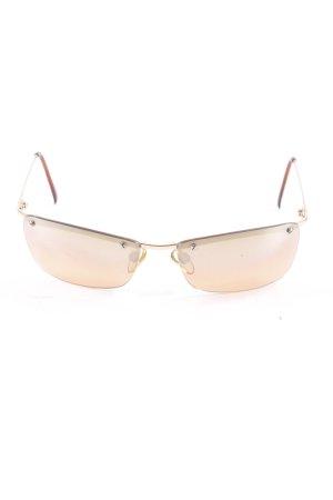 Moschino eckige Sonnenbrille mehrfarbig 90ies-Stil