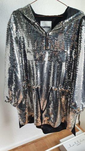 h&m moschino Vestido con capucha gris claro-color plata