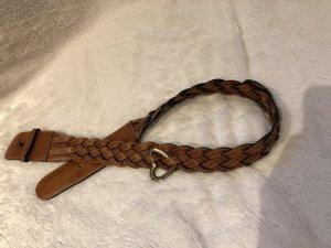 Moschino Cinturón de cuero marrón Cuero