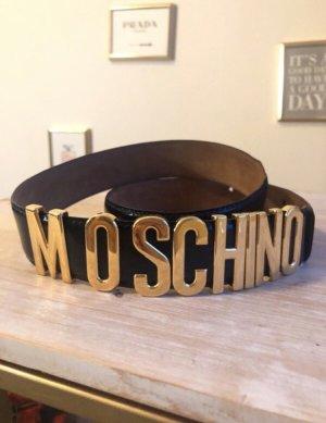 Moschino Hebilla del cinturón color oro-azul oscuro
