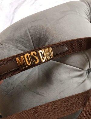 Moschino Cintura in tela bronzo