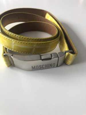 Moschino Leather Belt yellow