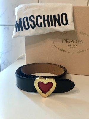 Moschino Gürtel schwarz Gold xs Herz