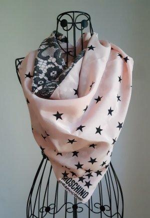 Boutique Moschino Apaszka czarny-w kolorze różowego złota