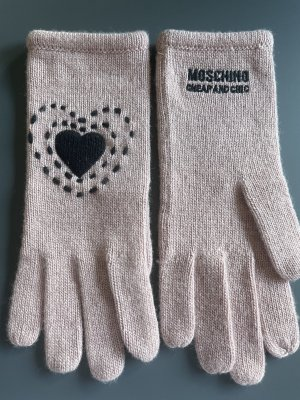 Moschino Gants en tricot vieux rose