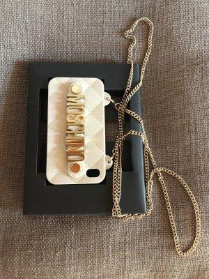 Moschino Étui pour téléphone portable beige clair-crème
