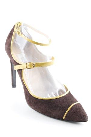 Moschino High Heels schwarzbraun-sandbraun Elegant