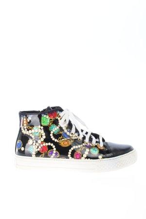 Moschino High Top Sneaker Motivdruck Casual-Look