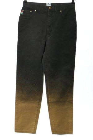 Moschino High Waist Jeans schwarz-goldfarben Farbverlauf Casual-Look