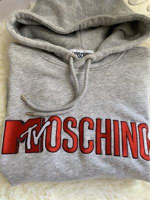 h&m moschino Pull à capuche gris clair-rouge foncé