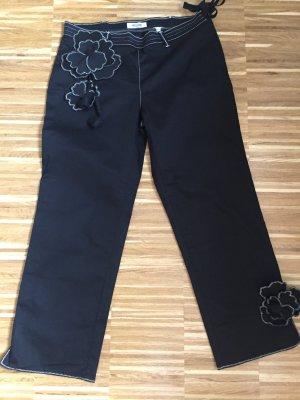 Moschino Jeans Pantalón tobillero negro-blanco tejido mezclado