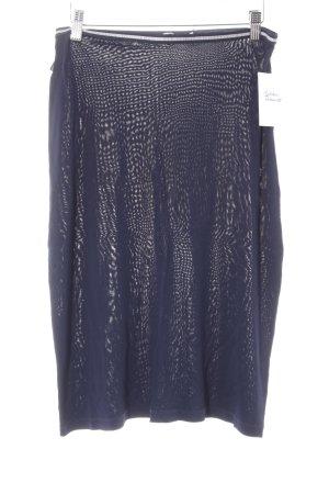 Moschino Jeans High Waist Rock silberfarben-blau Elegant