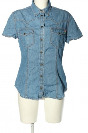 Moschino Jeans Jeansbluse blau Casual-Look