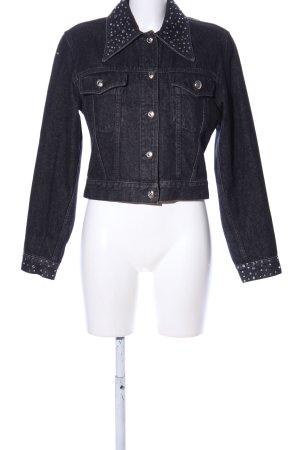 Moschino Jeans Jeansjacke schwarz Casual-Look