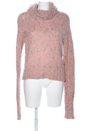 Moschino Jeans Rollkragenpullover pink meliert Casual-Look