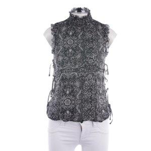 Moschino Jeans Seidentop in Schwarz und Weiß Gr. 36
