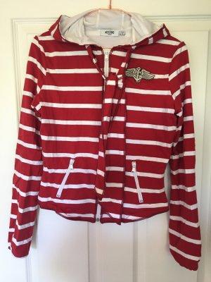Moschino Jeans Sweatjack wit-rood Katoen