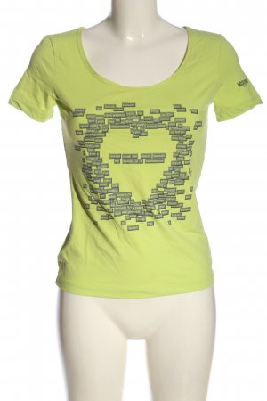 Moschino Jeans U-Boot-Shirt grün Schriftzug gedruckt Casual-Look