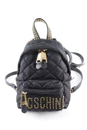 Moschino Mini sac à dos noir motif de courtepointe style décontracté