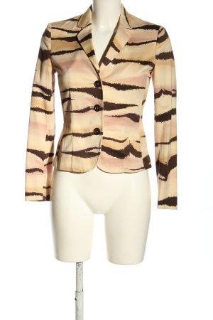 Moschino Klassischer Blazer cream-brown animal pattern business style