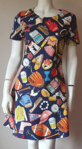 Boutique Moschino Summer Dress red-dark blue