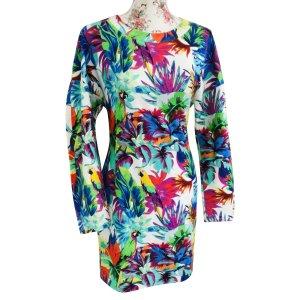 Love Moschino Robe Sweat multicolore coton