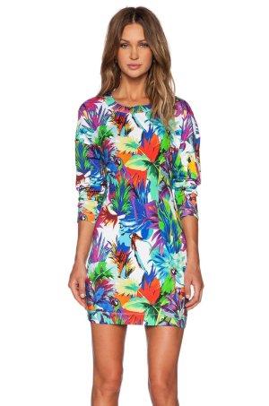 Love Moschino Sukienka dresowa Wielokolorowy Bawełna