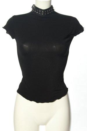 Moschino Kurzarm-Bluse schwarz extravaganter Stil