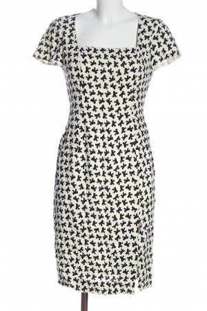 Moschino Shortsleeve Dress white-black allover print casual look