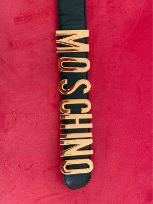 Moschino Leder Gürtel Vintage Schriftzug