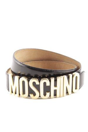 Moschino Lederen riem zwart casual uitstraling