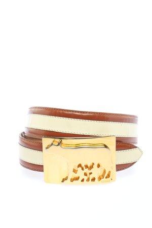 Moschino Ledergürtel creme-braun Casual-Look