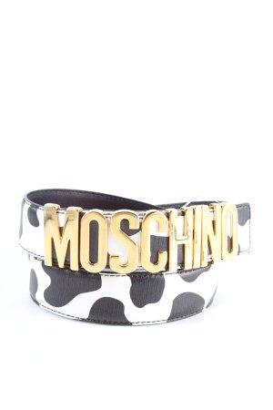 Moschino Ceinture en cuir motif animal style décontracté